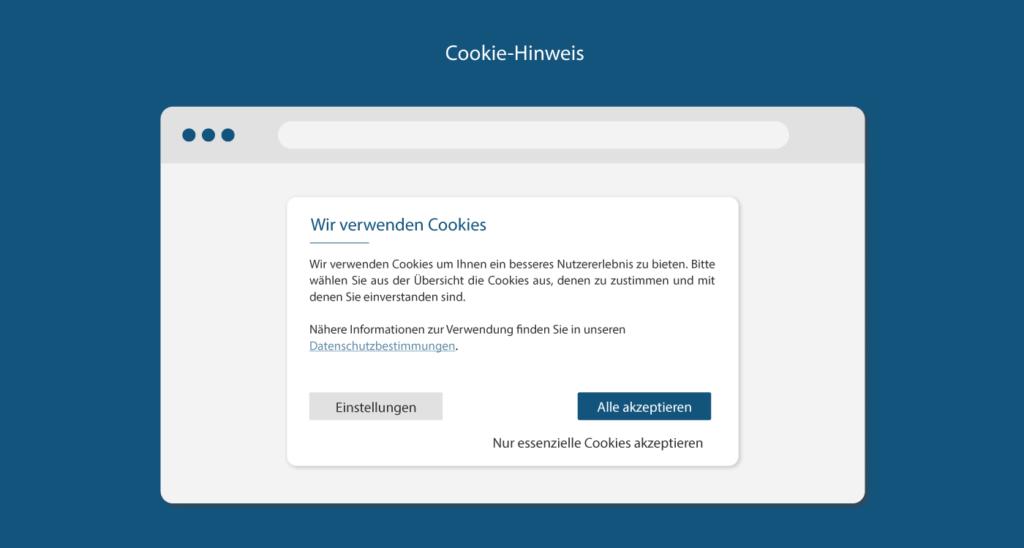 Cookie-Hinweis auf Website