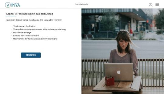 Kurs Screenshot Praxisbeispiele Datenschutz Mitarbeiter