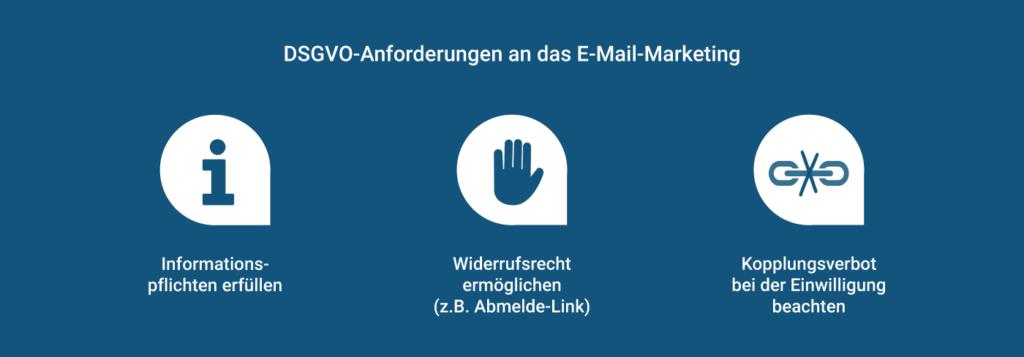 Anforderungen an den Datenschutz im Rahmen der DSGVO im E-Mail-Marketing