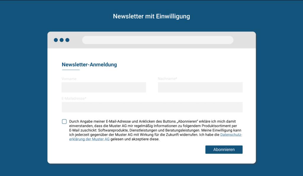 Einfaches Opt-in für Newsletter-Einwilligung