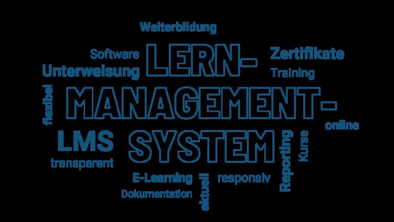 Wortwolke Begriffe Lernmanagement-Systeme
