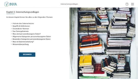 Screenshot Kurs Datenschutzgrundlagen Mitarbeiterschulung