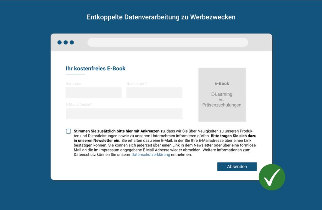 Entkoppelte Datenverarbeitung Webezwecke