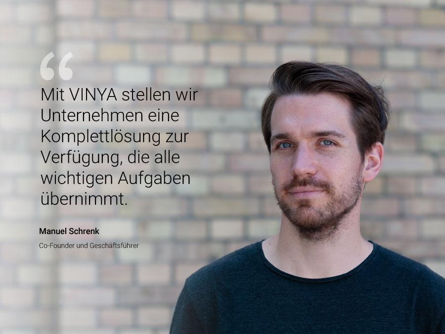 Interview VINYA Gründer Manuel Schrenk