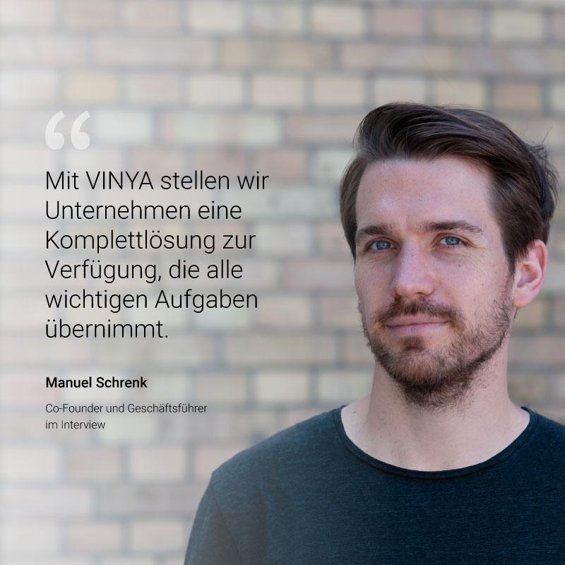 Interview Manuel Schrenk VINYA