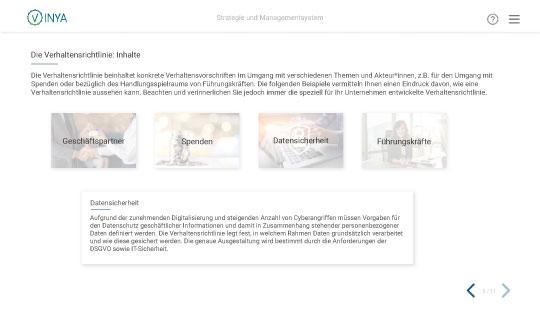 Einlick in die Compliance Schulung online: Compliance Management
