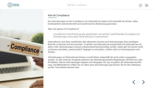 Einblick in die Compliance-Schulung: Definition von Compliance