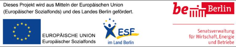 VINYA gefördert durch ESF und Berliner Senat