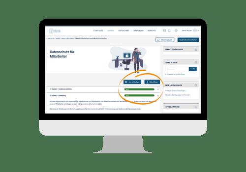 Benutzerfreundliche Mitarbeiterschulung online als E-Learning