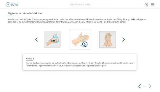 Screenshot Kurs Arbeitsschutz Pflege: Infektionsprävention