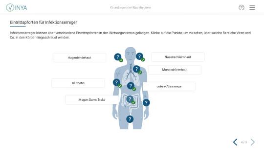 Screenshot Grundlagen Hygieneschulung für die Pflege