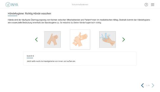 Screenshot Basishygiene Händedesinfektion